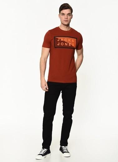 Jack & Jones Jack&Jones Erkek Baskılı T Shirt 12185035 Kırmızı